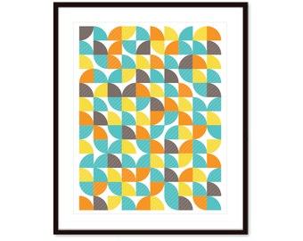 Geometric Print - Mid Century Home Decor - Modern Geometric Poster - Modern Geometric Art - Wall Art - Aldari Art