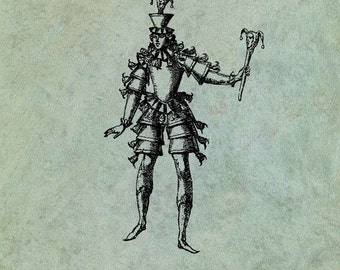 Medieval Court Jester - Antique Style Clear Stamp