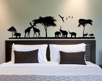 Safari Wall Decal  Jungle Wall Decal  Animal Wall Decal Stickers Safari  Nursery Decor
