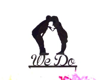 MADE In USA, We Do Silhouette Wedding Cake Topper  Mr and Mrs Silhouette Wedding Cake Topper Bride and Groom Cake Topper