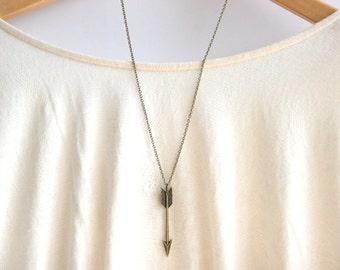 Chevron Arrow Necklace | Tribal Aztec Arrow Necklace | Long Arrow Necklace | Long Layering Necklace | Bridesmaid Gift | Christmas Gift