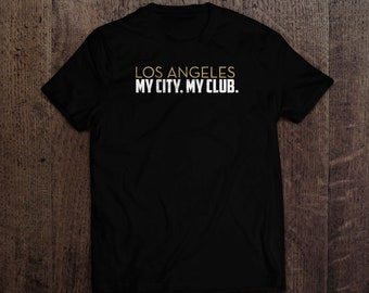 Los Angeles Shirt   Football Soccer   Black and Gold   Fan Merch Football Club