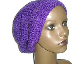 Webbed Slouchy Beanie Crochet Pattern