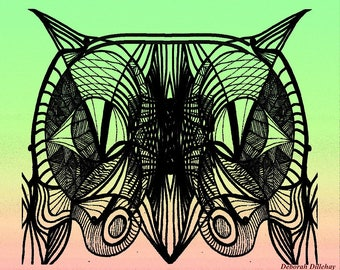 Abstract Art Digital Download: Owl Eyes