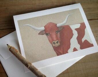 Longhorn Cards: Blank Stationery