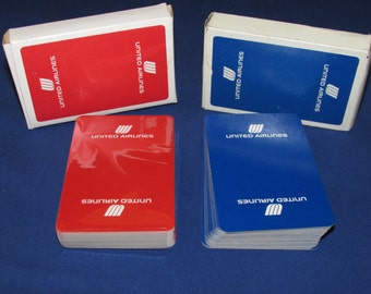 UNITED AIRLINES Playing Cards Set of 2 Decks