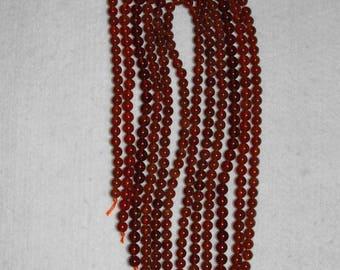 Garnet, 5 mm, Brown Garnet, Smooth Bead, Natural Stone, Semi Precious, Brown Bead, Gemstone Bead, Full Strand, AdrianasBeads