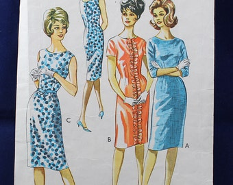 1960's Sewing Pattern for a Woman's Dress in Size 12 - Style 1399