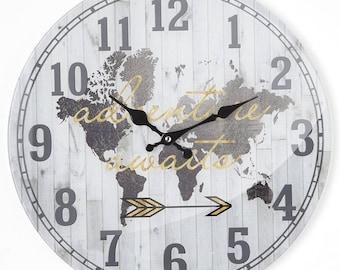 Round wall clock White Globe 38X4X38 cm