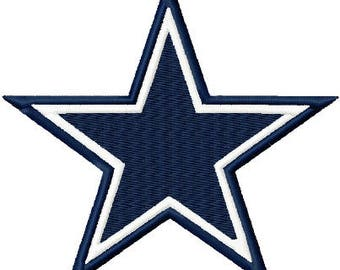 Star Solid Fill Embroidery Design 2x2 3x3 4x4 Cowboy Dallas INSTANT DOWNLOAD