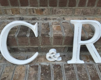 Wall Decor, Large Letter, Shabby Chic Wall Decor - New Item - PiCK YoUR CoLOr and PIcK YOuR LeTTeR - A-Z