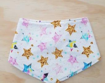 Bandana Bib, Baby, Toddler, Feeding- Stars