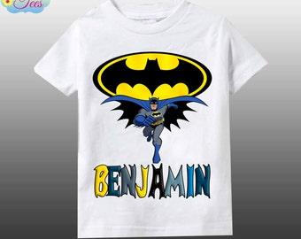 Batman inspired personalized shirt/Batman birthday boy shirt/Batman shirt/batman birthday personalized /personalized shirt/112
