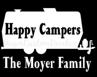 Vintage Rv Retro Camping Screen Print Poster Trailer Camper