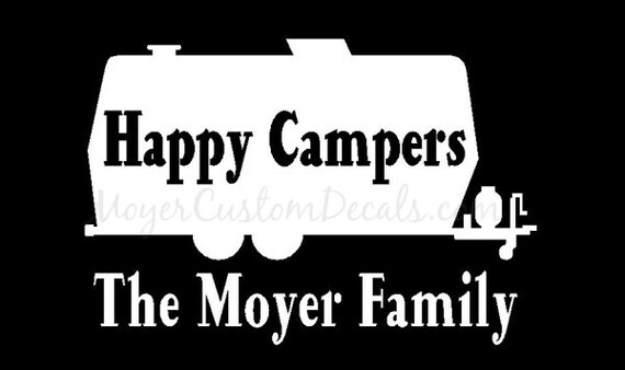 Travel camp trailer camper vinyl decal sticker you choose