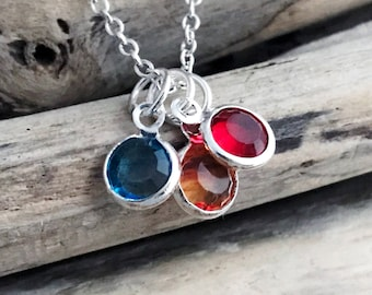 Swarovski Birthstone Charms, 6mm Swarovski Crystal Channel Charms, Bead Dangles, Add a Charm, Necklace Charms, Personalized Jewelry