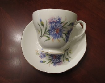 Dutchess fine bone china tea cup and saucer set from England