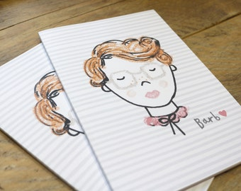 Stranger Things Barb Illustration A5 Plain Notebook - Sketchbook