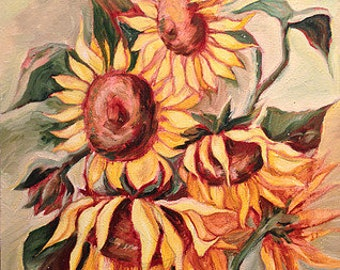 Sunflowers - Original Oil Painting