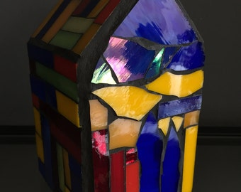 Home decor of Tiffany and spectrum glass-art-home Sweet home-decoration glass-handmade glass-special gift-glassware of glass