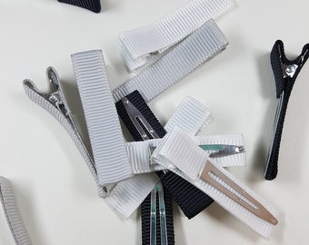 Ribbon Lined Alligator Clips