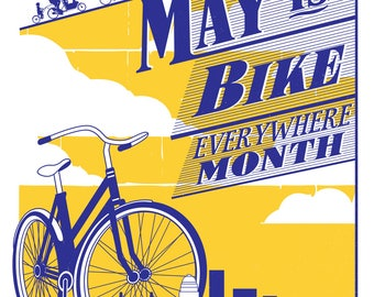 Bike Everywhere Month Poster