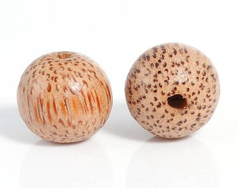 2 coconut palm pearls 20 mm