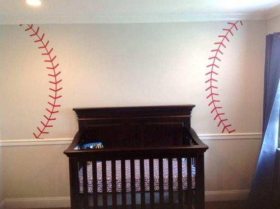 Baseball Stitching Vinyl Wall Decal Sports