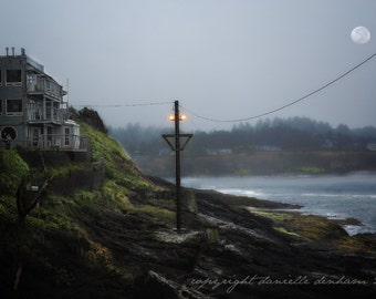 Beach Photo Oregon Depoe Bay Harbor--Fine Art Landscape Photography 8x12