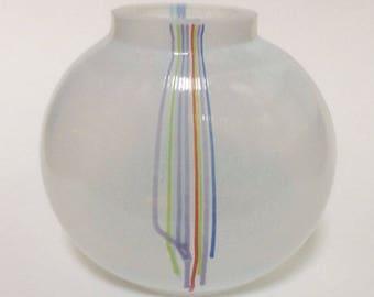 """Kosta Boda """"Rainbow"""" Vase, Signed by Bertil Vallien"""