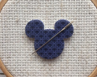 Disney Needle Minder - Mickey Mouse Magnet for Cross Stitch- Haunted Mansion Needle Minder - Haunted Mansion Wallpaper Needle Minder