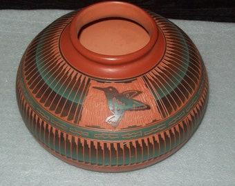 Navajo Pottery Large Pot By EY Dine