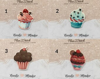 Scrumptious Cupcakes (1/5) Needleminder/Magnet for Cross Stitch/Embroidery
