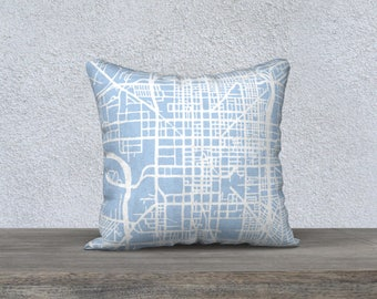 Indianapolis Map Pillow Cover