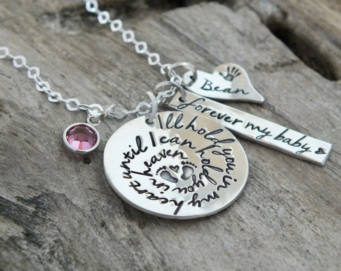Personalized Infant Baby Memorial Necklace /Hold You in Heaven / Infant Loss / Child Loss / Baby Loss / Pregnancy Loss / Miscarriage Jewelry