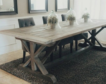 Made to Order X Style Farmhouse Trestle Table