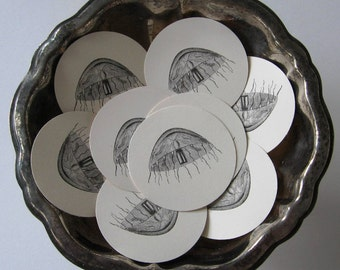 Jellyfish Tags Round Gift Tags Set of 10