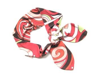 Dolly Bow Headband, Bandana Headband, Hair Accessories, Wire Head Wrap, Head Wrap, Hair Ties, Hair Band, Hair Wrap Headband, Ready To Ship