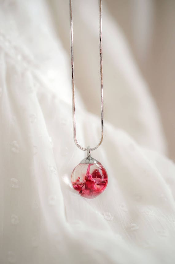 Real flower ball pendant pink rose necklace rosebud pendant real flower ball pendant pink rose necklace rosebud pendant real rose jewelry botanical jewelry pendant dried rose necklace flower pendant audiocablefo