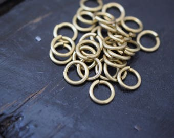 10mm Thick Brass Open JumpRings Jump Rings, 13g