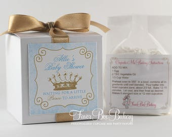 LITTLE PRINCE ...One Dozen (12) Personalized Cupcake Mix Baby Shower Baby Sprinkle Favors