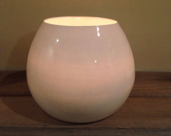 Extra Large Tealight Votive Candleholder - White Globe - Translucent Porcelain by Alison Ostergaard- READY TO SHIP