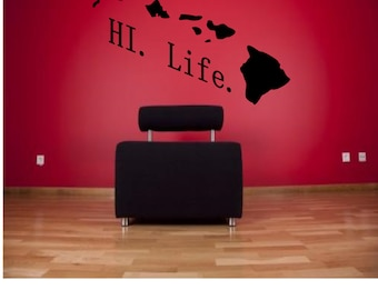 Hawaiian Island Wall Decal