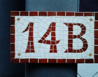 Address number on a tile mosaic for your home