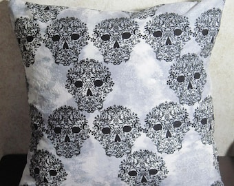 Skull Envelope Pillow Cover 16x16