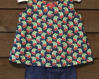 Girls Cherry Outfit with matching shorts