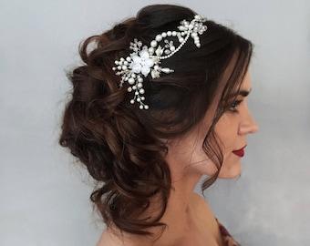 Bridal hair vine, Crystal bridal crown, Bridal headpiece, Bridal headband, Bridal wreath, Rhinestone Silver, Tiara, Ornament, Hair Clips