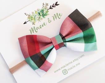 Christmas Plaid Bow / The Ellery Bow