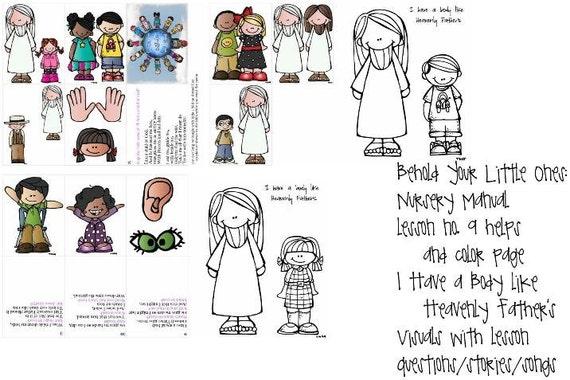 LDS primaria vivero Manual Lección 9 tengo un cuerpo como el