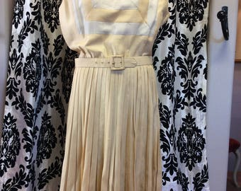 Sleeveless Silk Blend Dress from 1950's